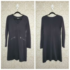 Athleta Black Celebration Long Sleeve Dress M